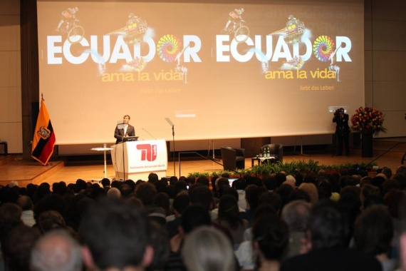 Rafael Correa Conferencia Universidad Técnica de Berlín