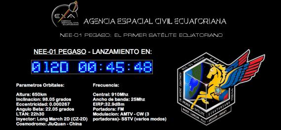 Satelite Ecuatoriano Pegaso EXA Ronnie Nader